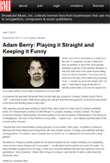 Adam featured in BMI's MusicWorld